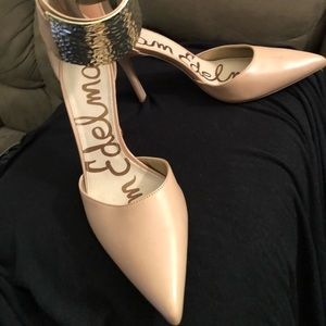 2601b6ad8 Sam Edelman Shoes - Sam Edelman Nude pumps with silver ankle strap